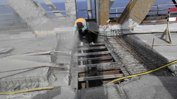 На черкаському мосту вже монтують деформаційні шви з Німеччини (ФОТО)
