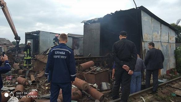На Черкащині горів пункт прийому металобрухту: є постраждалі