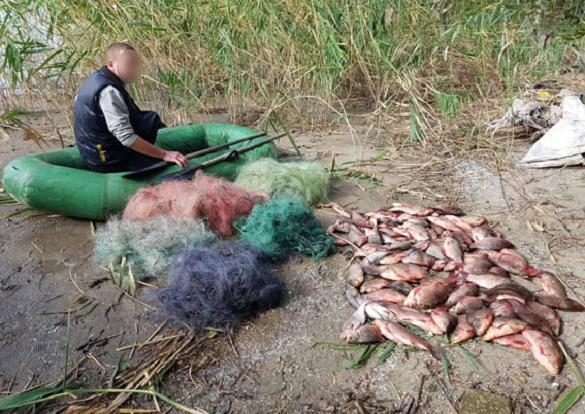 Браконьєр з Черкащини незаконно виловив риби на 10 тис. грн