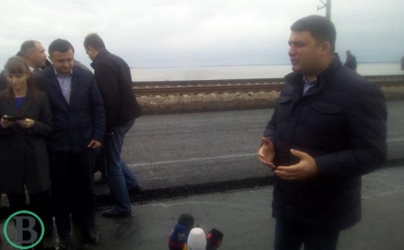 Гройсман заявив, що із ремонтом черкаського мосту все буде