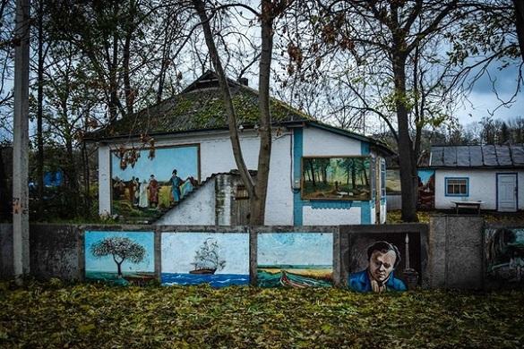 Картини просто неба: черкаський пенсіонер перетворив сільське подвір'я на арт-галерею (ФОТО)