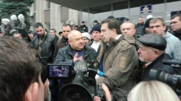 На Черкащині Саакашвілі став учасником бійки