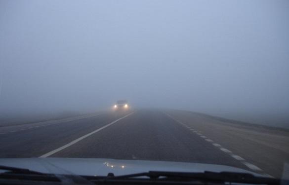 До уваги водіїв: у Черкасах та області очікується густий туман