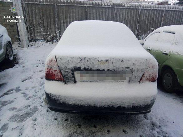 У центрі Черкас знайшли викрадений автомобіль