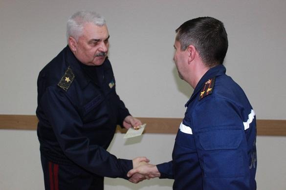 У Черкасах відзначили рятувальників, які гасили пожежу на торфосховищах (ФОТО)