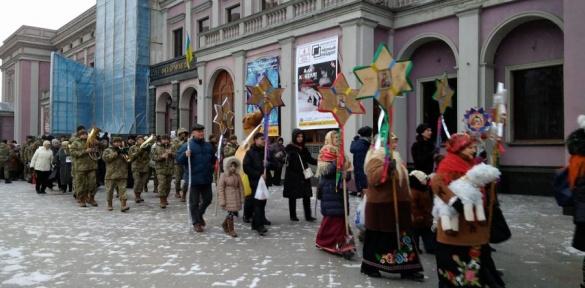 Вулицями Черкас у супроводі оркестру пройшов справжній вертеп (ВІДЕО)