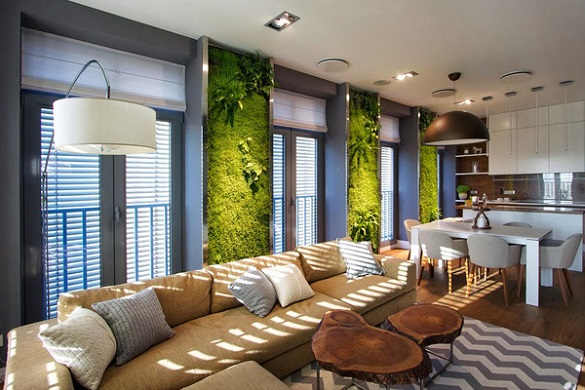 Стіни з моху та живий вогонь у квартирі: черкаські дизайнери розповіли про новинки в інтер'єрі