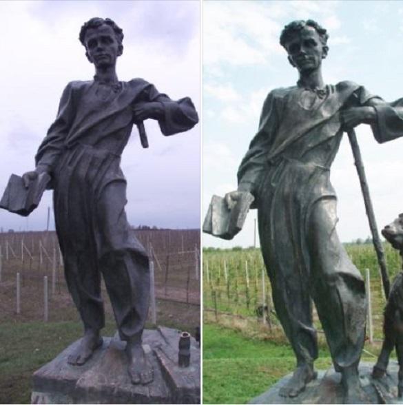 У черкаському селищі, де провів своє дитинство Кобзар, відновили пам'ятник