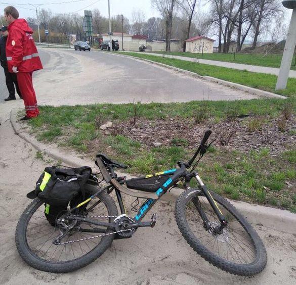 Водій на швидкості збив велосипедиста в Черкасах (ФОТО)