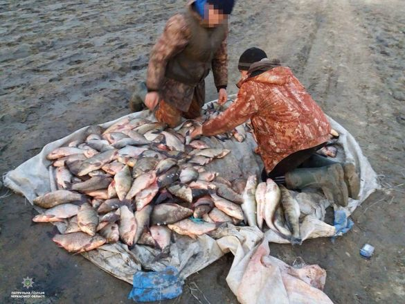 На Черкащині спіймали браконьєрів з уловом на суму понад 30 тисяч гривень (ФОТО)