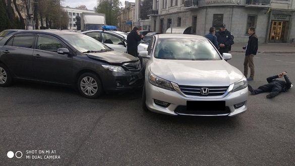 На перехресті в Черкасах сталася ДТП із постраждалими (ФОТО)