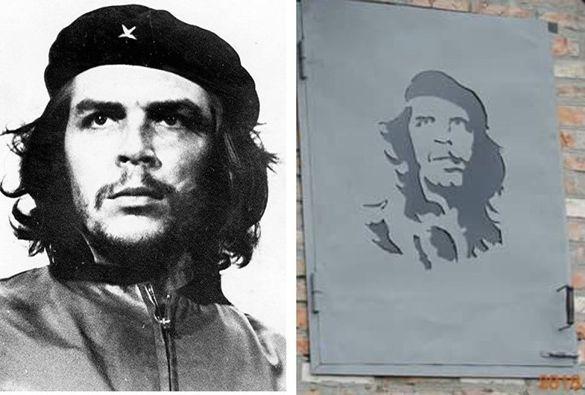 На Черкащині майстер оздобив будівлю портретом кубинського революціонера (ФОТО)