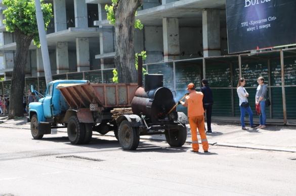 На бульварі Шевченка триває поточний ремонт доріг