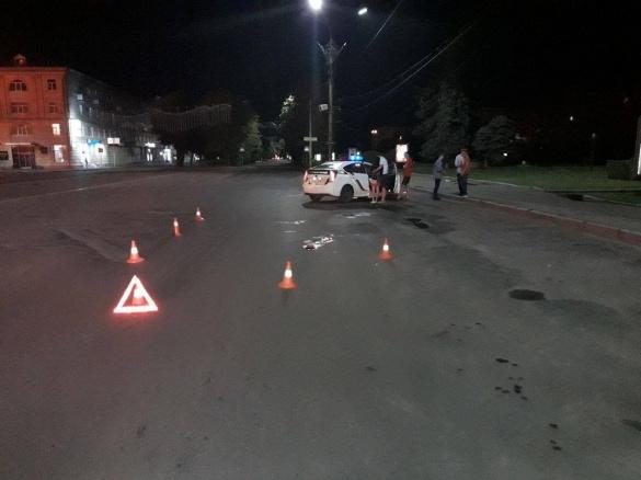 Навпроти Соборної площі водій іномарки збив пішохода (ФОТО)