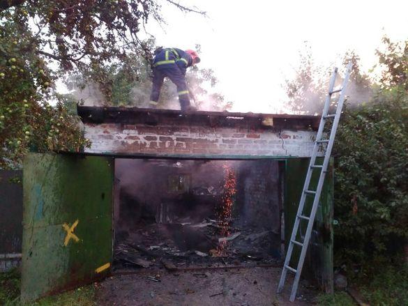На Черкащині через замикання електромережі згорів гараж
