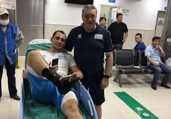 Черкаський баскетболіст травмувався у Китаї