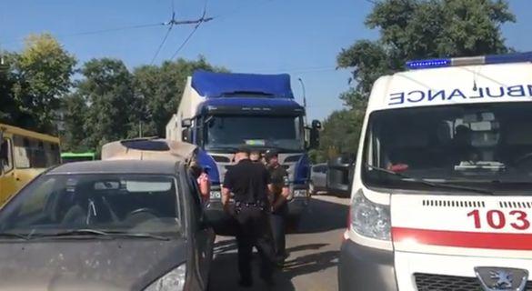 У середмісті Черкас трапилася ДТП з постраждалими