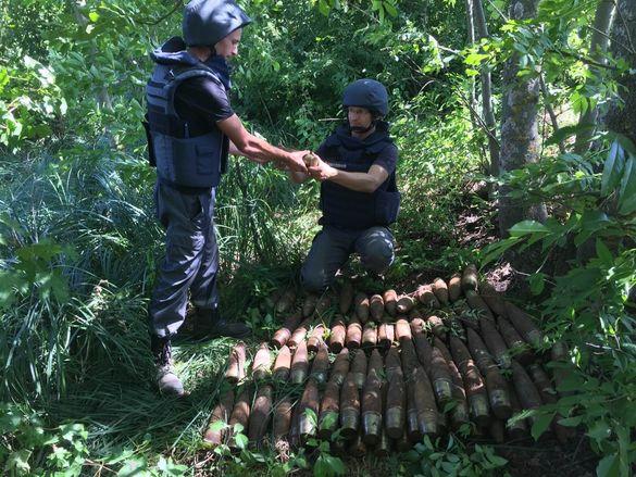 Понад 140 артилерійських снарядів знайшли на Лисянщині (ФОТО)
