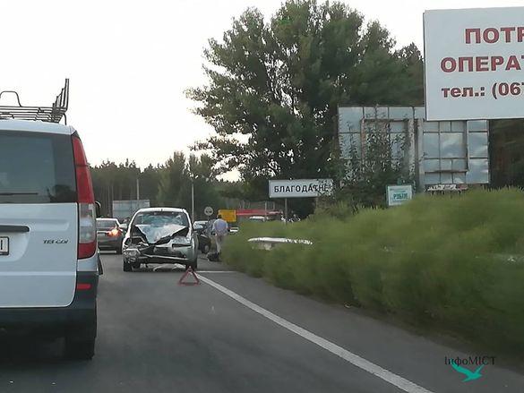 На черкаській дамбі майже одночасно сталося чотири аварії. Є постраждалі (ФОТО)