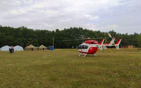 В Умані паломника транспортували до столичної лікарні за допомогою єврокоптера