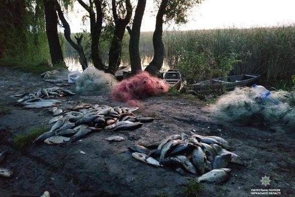 За один день черкаські браконьєри виловили риби на понад 30 тисяч гривень (ФОТО)
