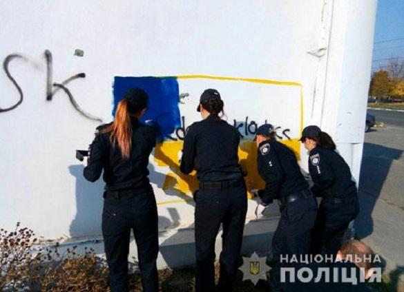 На вулицях Черкас зафарбовували рекламу заборонених речовин (ФОТО)
