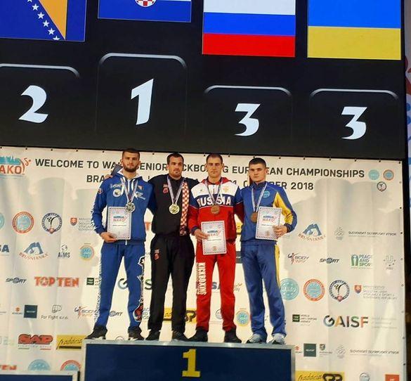 Черкаський кікбоксер виборов упевнену перемогу на чемпіонаті Європи