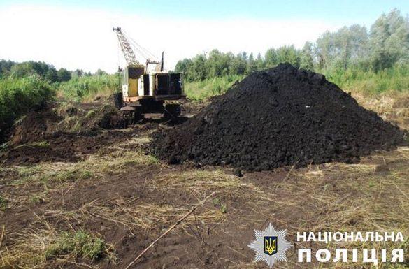 У Черкаській області незаконно видобували та продавали торф (ФОТО)