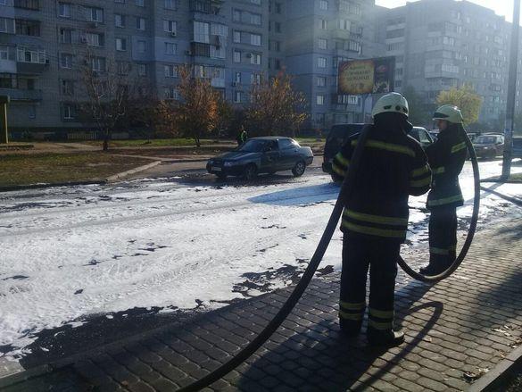 На одній із вулиць Черкас розлилося паливо (ФОТО)