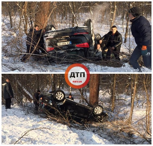 Під Києвом перекинулася черкаська автівка з двома дітьми та трьома дорослими (ФОТО)