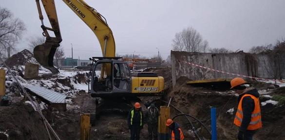 У Черкасах триває реконструкція головного каналізаційного колектора (ВІДЕО)