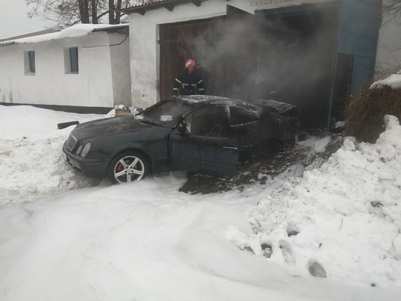 На Черкащині згорів легковик під час техогляду (ВІДЕО)