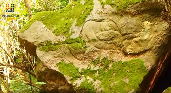 Поблизу Умані знаходиться камінь із висіченим зображенням русалки (ВІДЕО)