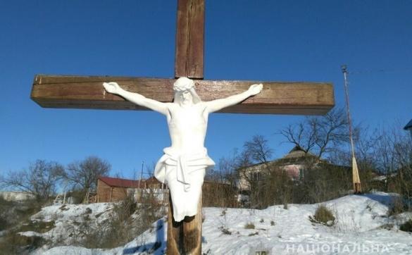 У Черкаській області познущалися із пам'ятника Ісуса Христа (ВІДЕО)