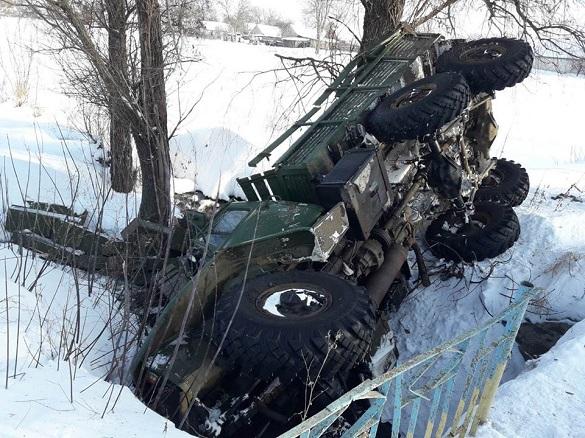 На Черкащині в аварію втрапила вантажівка із боєприпасами