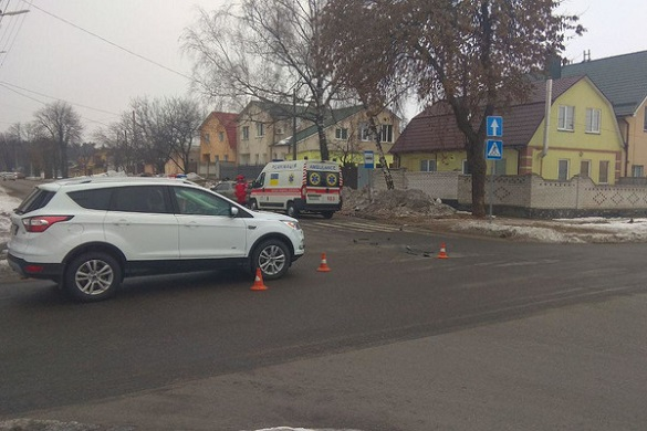 На перехресті в Черкасах сталася аварія: є потерпілий