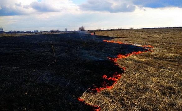 У Черкасах сталася масштабна пожежа сухої трави