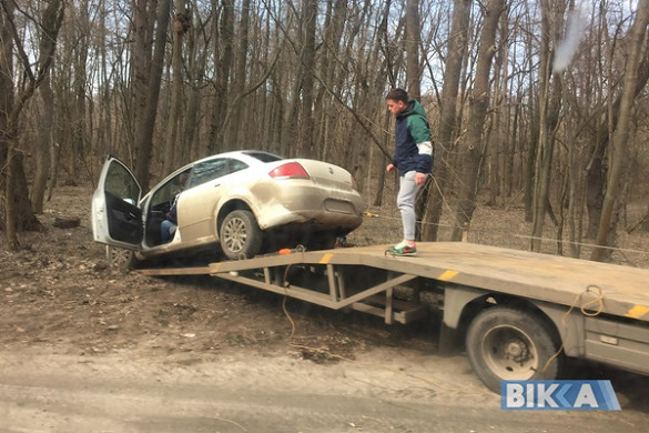 На Черкащині автомобіль злетів у кювет (ФОТО)