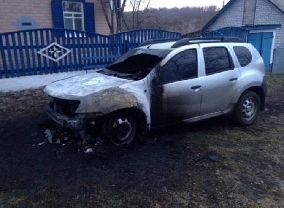 У селі на Черкащині невідомі підпалили авто