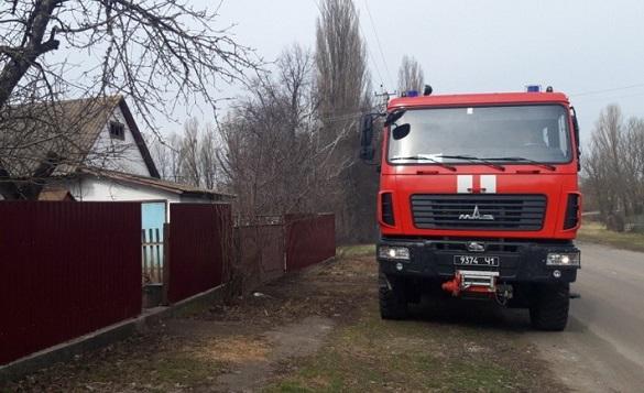 На Черкащині горів житловий будинок