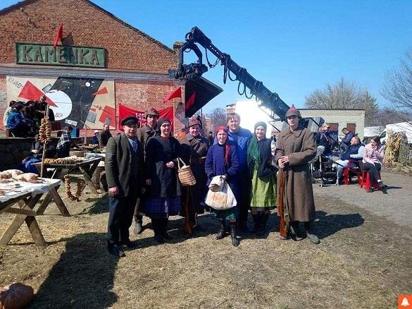 На черкаській залізничній станції знімали фільм (ФОТО)