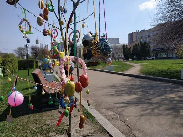 До Великодня у центрі Черкас прикрасили сквер