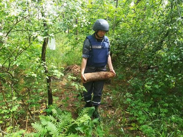 На Черкащині знайшли п'ять боєприпасів часів війни