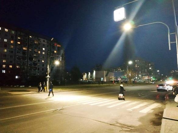 Пішохідні переходи у Черкасах обладнали спеціальною підсвіткою