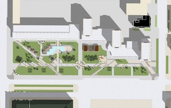 Фонтан, нове освітлення та амфітеатр: як зміниться сквер