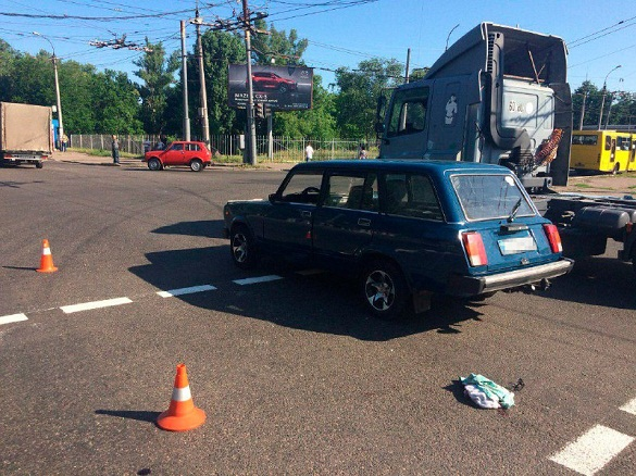 На перехресті у Черкасах збили жінку (ФОТО)