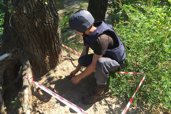 Біля Дніпра у Черкасах знайшли гранату