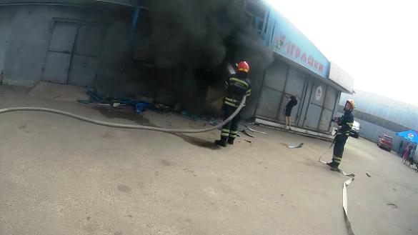 База ОПС горіла у Черкасах (ФОТО)