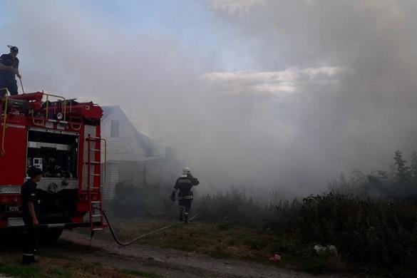 На Черкащині вщент згорів житловий будинок (ФОТО)