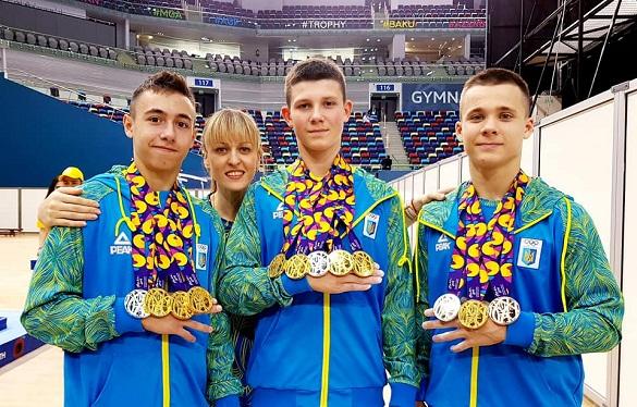 Черкаські гімнасти вибороли 9 нагород юнацького фестивалю